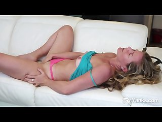Busty blonde claudia masturbating