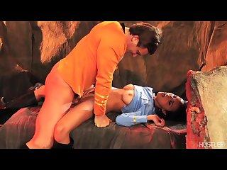 Dillion harper fucked hard by captain kirk in star trek porn parody