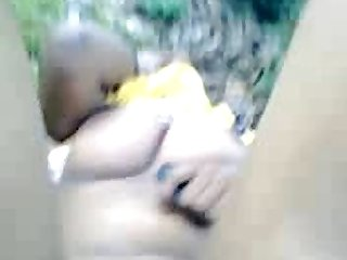 Painful fuck of Desi lady in forest with village big hard cock guy