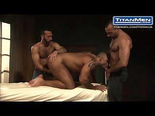 Hairy muscle Bear threesome