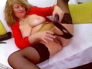 Horny mature webcam self fist heel Insertion fucks shoe heelslovers por