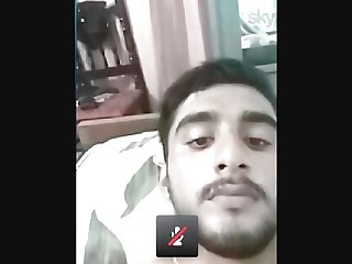 Indian boy showing his masturbation through cam