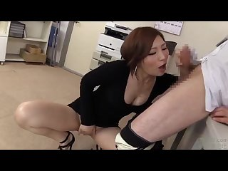 Provocative nasty japanese whore knows how to have sex at work