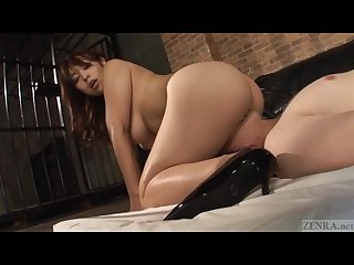 Subtitled thick japanese Facesitting with reiko nakamori