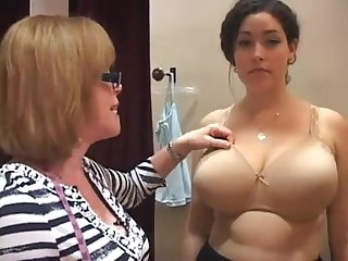 bra lady gropes big tits