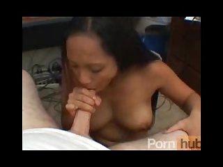 Big tit asian gives a blowjob at the office