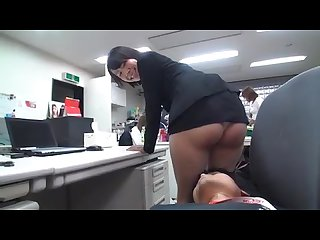 Japanese milf is humiliated at work her skirt is way too short