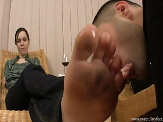 Dirty foot worship
