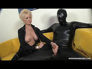The big titted granny keeps everything in control short