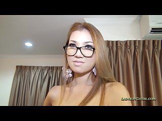 Delicious natural hairless thai ladyboy
