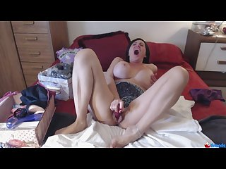Pretty milf has a screaming orgasm