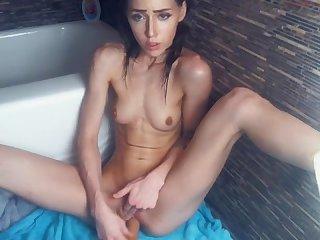 Sexy wet skinny girl