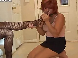 Lesbian slave worship her black mistress