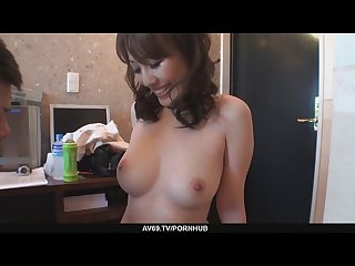 Big titted babe emiri mizusawa s hairy twat drilled