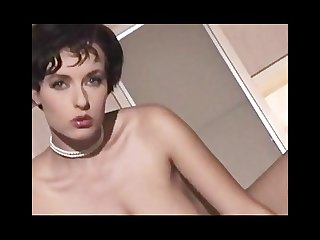 Natural striptease with short hair 2