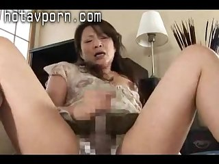 Japanese girl in friends mother made ripe
