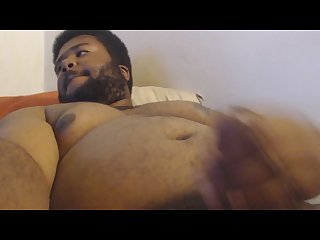 Blackcub solo jerking with cream cumshot