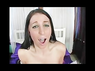 Girl rides the sybian