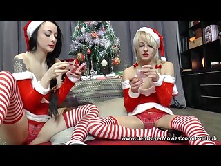 Xmas frolics with April paisley and alessa Savage