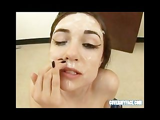 Sasha grey gets cum covered