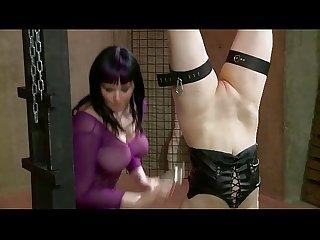 Lesbian bondage sex black N blue bondage