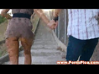 Real Outdoor public chica Amateur sucking on dick