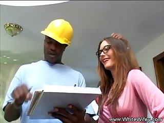 Brunette milf nailed by two black guys really hard