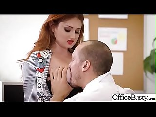 Hard Bang On Cam In Office With Big Round Tits Girl (Lennox Luxe) video-19