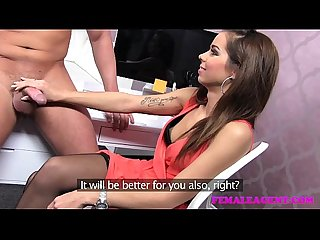 Femaleagent confident stud finishes casting with a sexy creampie
