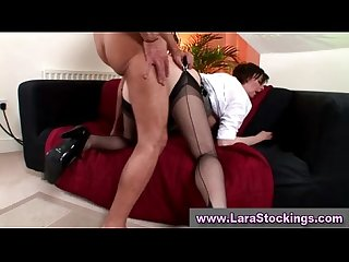 Mature stocking slut fuck and cumshot