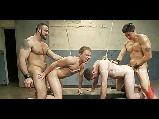 Giany strong gay master teaches slaves