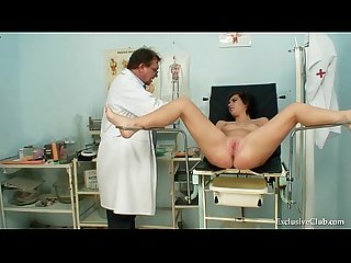 Filthy gyno doctor performs cute teen exam