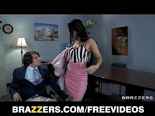 Office assistant asa akira shows her boss her flexibility