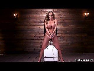 Big booty busty Milf fucking machine