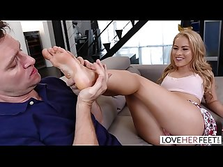 LoveHerFeet - Beautiful Blonde With Perfect Feet Fucks A Fat Cock