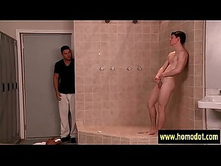 Muscular gay sucked and fucking