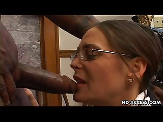 Experienced Cheyenne Hunter milks a BBC dry.