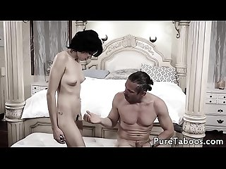 Cute stepdaughter getting fucked doggystyle