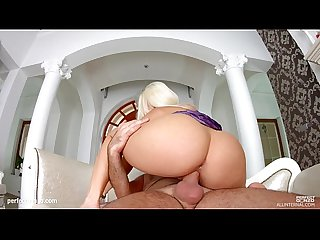 Allinternal hot blonde gives A nice blowjob and gets A nice pounding in her Ass