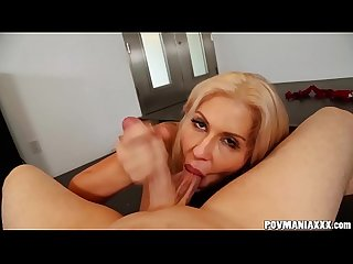 Beautiful Blonde Savana Styles Sucks Cock POV Style