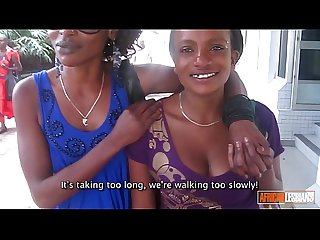 Beautiful Young African Lesbians Make Passionate Love