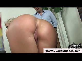 Cuckold interraical loving slut gets a cumshot
