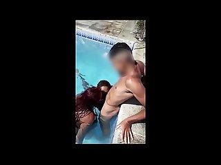 Putaria em festa de swing, praia e piscina - Melissa Devassa