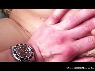 Hairy pussy fuck closeup trimmed pussy penetration