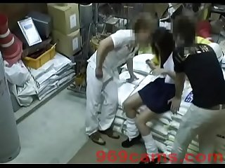 Japanese Girlfriend Forced Gangbang In Warehouse - 969cams.com