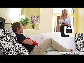 Big tits blonde milf Nina elle takes command naughty America