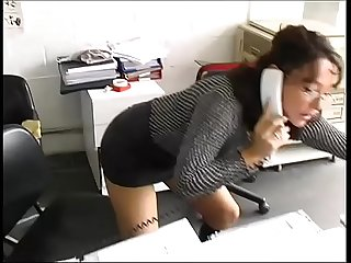 Sexy secretary in A warehouse brutally fucked by workers excl