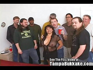 Susie's Gang Bang Bukkake Party for Tampa Bukkake