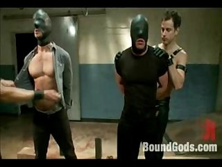 Nasty bondage hanging submitted gay guys