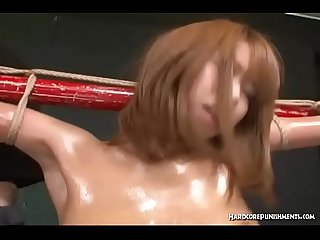 Asian Group BDSM With Japanese Teen Bound